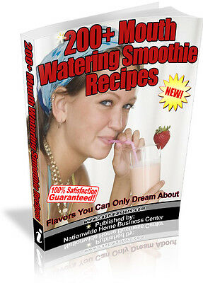 200+ Mouth Watering Smothie Recipes Pdf Ebook Free Shipping Resale Rights