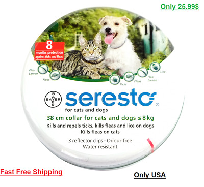 Seresto/Foresto Bayer Flea Tick Collar 38cm For Small Medium Dogs/Cats FreeSHIP