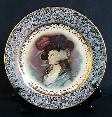 Homer Laughlin plate of a Joh Peters Amsterdam Portrait victorian woman trasfer