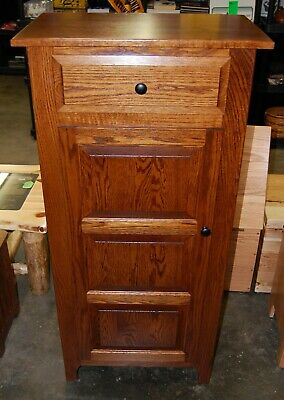NEW Amish Made Ohio USA Solid Wood Oak Cabinet Panel Doors Drawer Storage