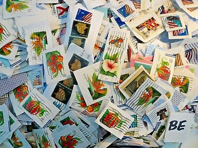 US Used Stamps on Paper Clippings Kiloware 47 ounce 33-44 cent Forever Mix