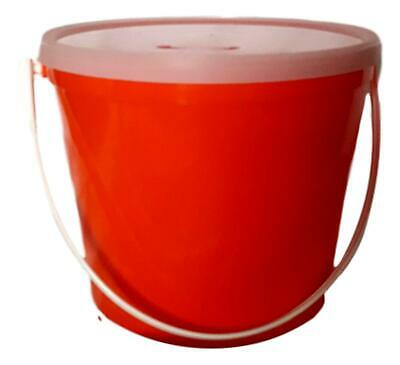 1 Red Children's Piggy Bank (Plastic Bucket and Lid)  Made in USA Non Toxic