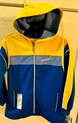 New Rocawear  Juniors Athletic Full Zip Jackets With Hood Size S /8/ Blue/Yellow