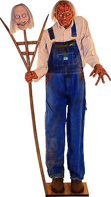 Inbred Fred - Animated Life Size Zombie Halloween Prop - Decor Statue Farmer