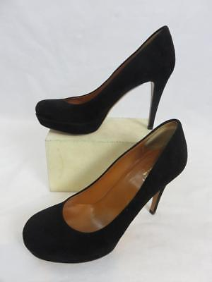 988ce0c81787 A+ GUCCI Betty PLATFORM PUMP Black Suede Round Toe CLASSIC 4