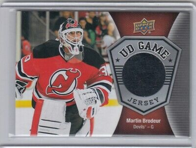 2016-17 Upper Deck Ud Game Jersey Martin Brodeur Sp
