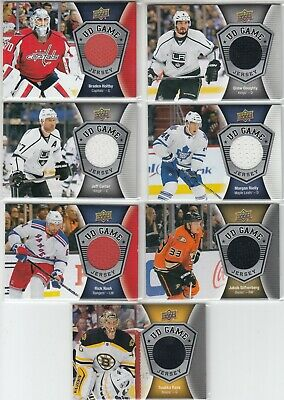 2016-17 Upper Deck Ud Game Jersey 7 Card Lot