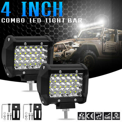 4inch 72W Four Row LED Work Strip Light Bar Driving Fog Lamp Refit Off-road Roof