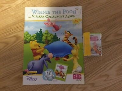 DISNEY WINNIE THE POOH STICKER ALBUM WITH ALL STICKERS (Not Inserted) By PANINI