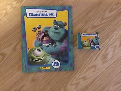 MONSTERS INC. STICKER ALBUM COMPLETE WITH ALL STICKERS (Not Inserted) By PANINI