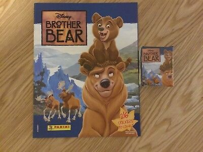 BROTHER BEAR STICKER ALBUM COMPLETE WITH ALL STICKERS (Not Inserted) By PANINI