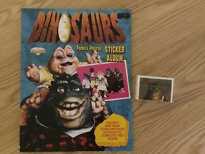 DISNEY DINOSAURS STICKER ALBUM COMPLETE WITH ALL STICKERS (Not Inserted)