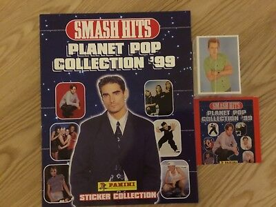 SMASH HITS STICKER ALBUM COMPLETE WITH ALL STICKERS (Not Inserted) By PANINI