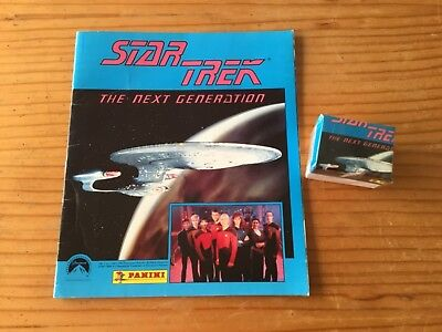 STAR TREK THE NEXT GENERATION STICKER ALBUM and All Stickers Not Inserted/PANINI