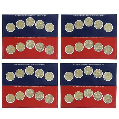 2018 P D America The Beautiful Quarters BU Roll ATB US Mint Cello 40 Coin Set