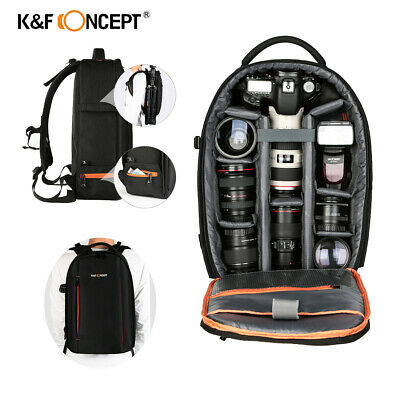 K&F Concept Camera Backpack Bag Waterproof Rucksack with tripod Holder DSLR Case