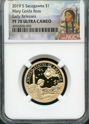 2019 S Sacagawea $1 Mary Golda Ross Early Releases NGC PF70 Ultra Cameo Portrait