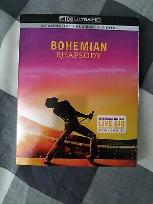 BOHEMIAN RHAPSODY (4K UHD + BLU-RAY) W/SLIPCOVER (please read!!) NO DIGITAL