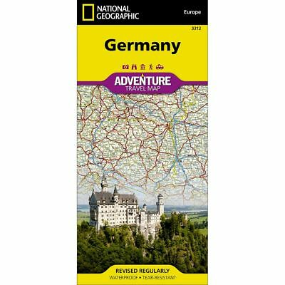 National Geographic Germany Adventure Travel Map #3312 - Copyright 2016