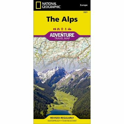 National Geographic The Alps Adventure Travel Map #3321 - Europe