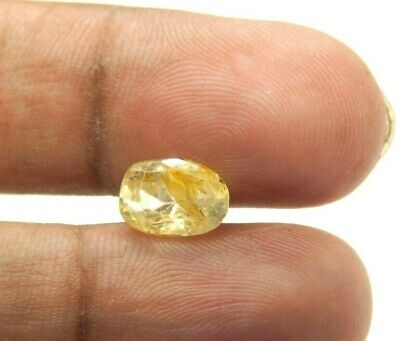 2.70 Cts Natural Unheated 9x6 mm Oval Faceted Ceylon Yellow Sapphire Gemstones