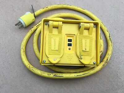Hubbell  GFP20M  Portable GFCI w/ Cord, 120VAC 4 Outlet Circuit Guard