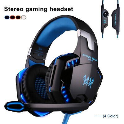 KOTION EACH G2000 Stereo Gaming Headset LED Lights Headphone for PC Computer