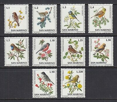 San Marino ~ 1972 Birds  Sc# 777-786  **/NH  (mr054)