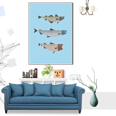 Sea Fish Poster Print Decorative Paint Picture Canvas Art Home Wall Room Decor