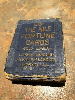 Antique Nile Fortune Reading cards - Gold Edges