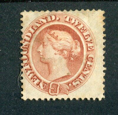 Newfoundland Canada QV 1865-70 12c red-brown SG28 used
