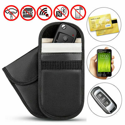 2x Car Key Signal Blocker Pouch Faraday Cage Fob Keyless RFID Blocking Bag Case
