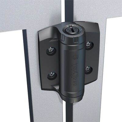 D&D Technology Tru Close Self Closing Safety Gate Hinges Heavy Duty TCHD1AS3RB