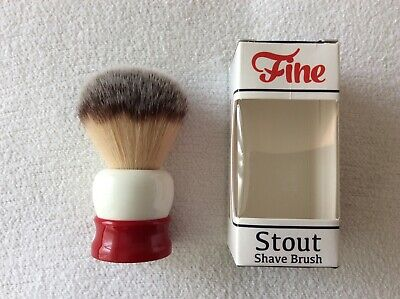 Fine Accoutrements Stout synthetic fibre shaving brush BNIB, FREE UK POST