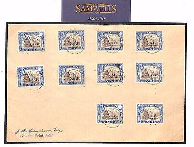 MS3170 1945 ADEN STEAMER POINT KGVI Cover Unusual Franking! {samwells-covers}