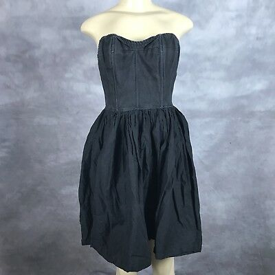 f21663b6ff20a Tracy Feith For Target Junior Strapless Black Flare Dress Sz 11 Casual AB
