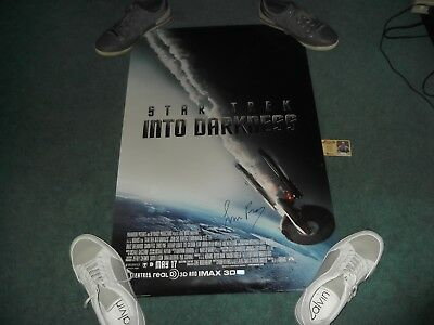 Rare Signed Autograph Poster 24X36 Star Trek Into the Darkness Simon Pegg Scotty