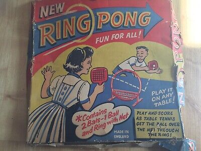 Rare Vintage Table Tennis Game - RING PONG (1950's/ 60's ? )
