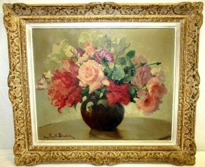 Jean Frank Baudoin (French, 1870-1961) Still Life Original Oil Painting