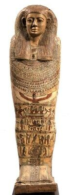 Rare Ancient Egyptian Cover of Sarcophagus Ptolemaic Age (305 BC - 30 BC)