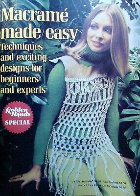Macrame made easy Golden Hands magazine Vintage 1970's