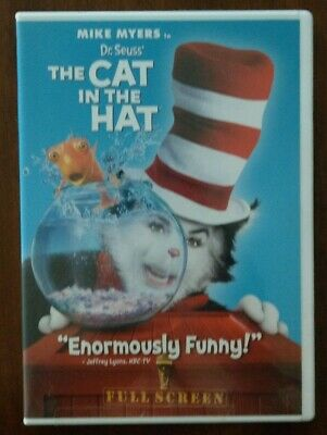Dr. Seuss The Cat in the Hat (DVD, 2004, FULL Screen)