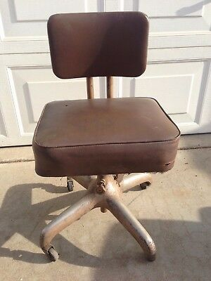 Vintage Industrial  King Posture Office Chair Steampunk Brown