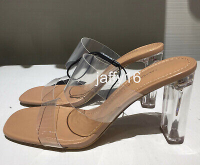 38ae3db99ce Zara New Woman Vinyl Sandals With Methacrylate Heels Natural 35-42 Ref.  2316