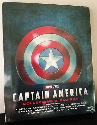 CAPTAIN AMERICA Trilogy First Avenger Winter Soldier Civil War BluRay STEELBOOK