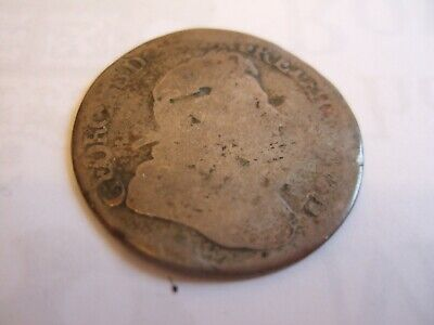 VERY RARE 1718 GEORGE I SILVER Shilling Roses & Plumes Great Britain UK!