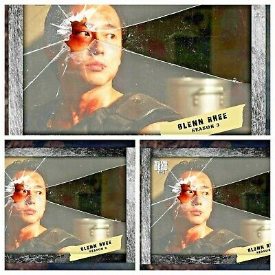 3x GLENN RHEE SHATTERED SLATE Topps WALKING DEAD DIGITAL Card Trader MARATHON