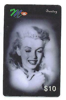 Marilyn Monroe ACMI Sunday Commeorative Phone Card