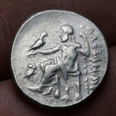 Ancient Greek Coin Silver Drachm Alexander The Great 336-322 Bc