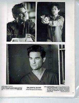 Unlawful Entry Kurt Russell Hollywood 8X10 Special Edition Promo Movie Photo